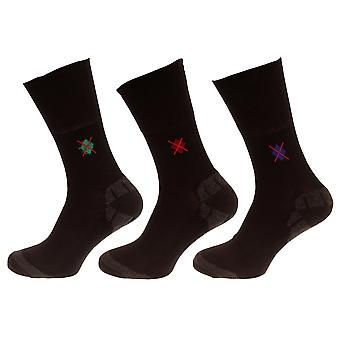 Mens Non Elastic Socks With Bamboo Cushion (Pack Of 3 Pairs)