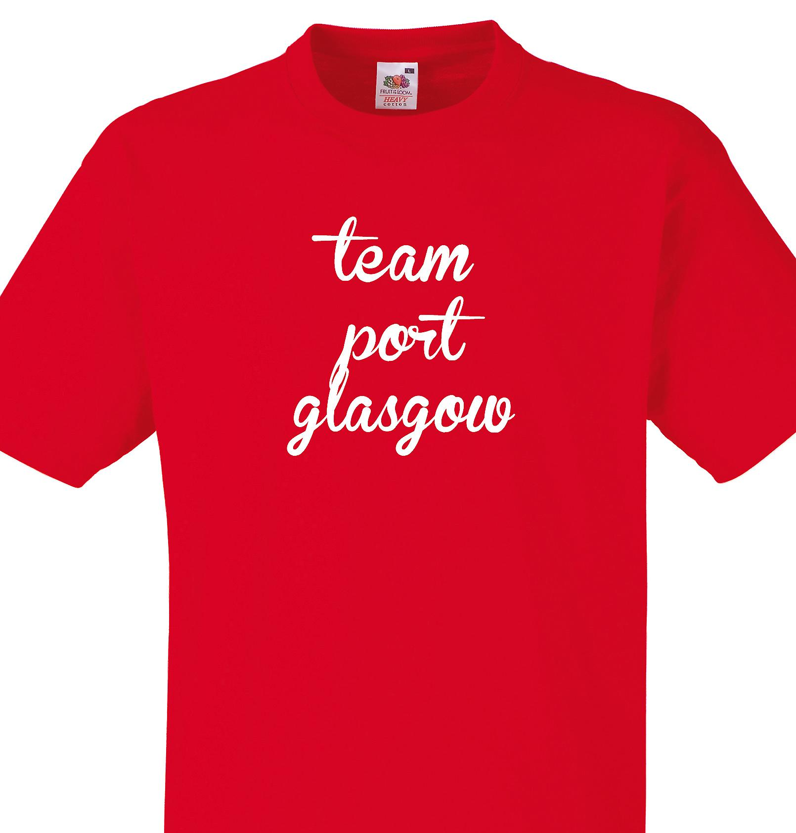 Team Port glasgow Red T shirt