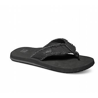 Quiksilver Monkey Abyss Flip Flops - Black / Black / Brown