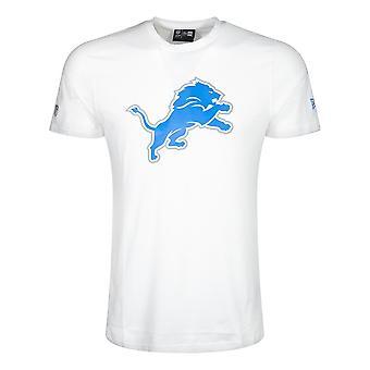 New Era Nfl Detroit Lions White Team Logo T-shirt