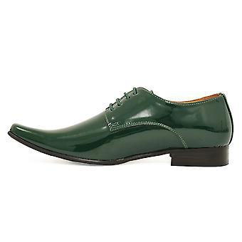 Dobell Mens Racing grön klänning skor Patent modern stil spetsad