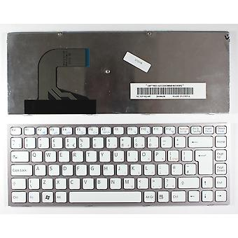 Sony Vaio VPC-S120FLB Pink Frame White UK Layout Replacement Laptop Keyboard