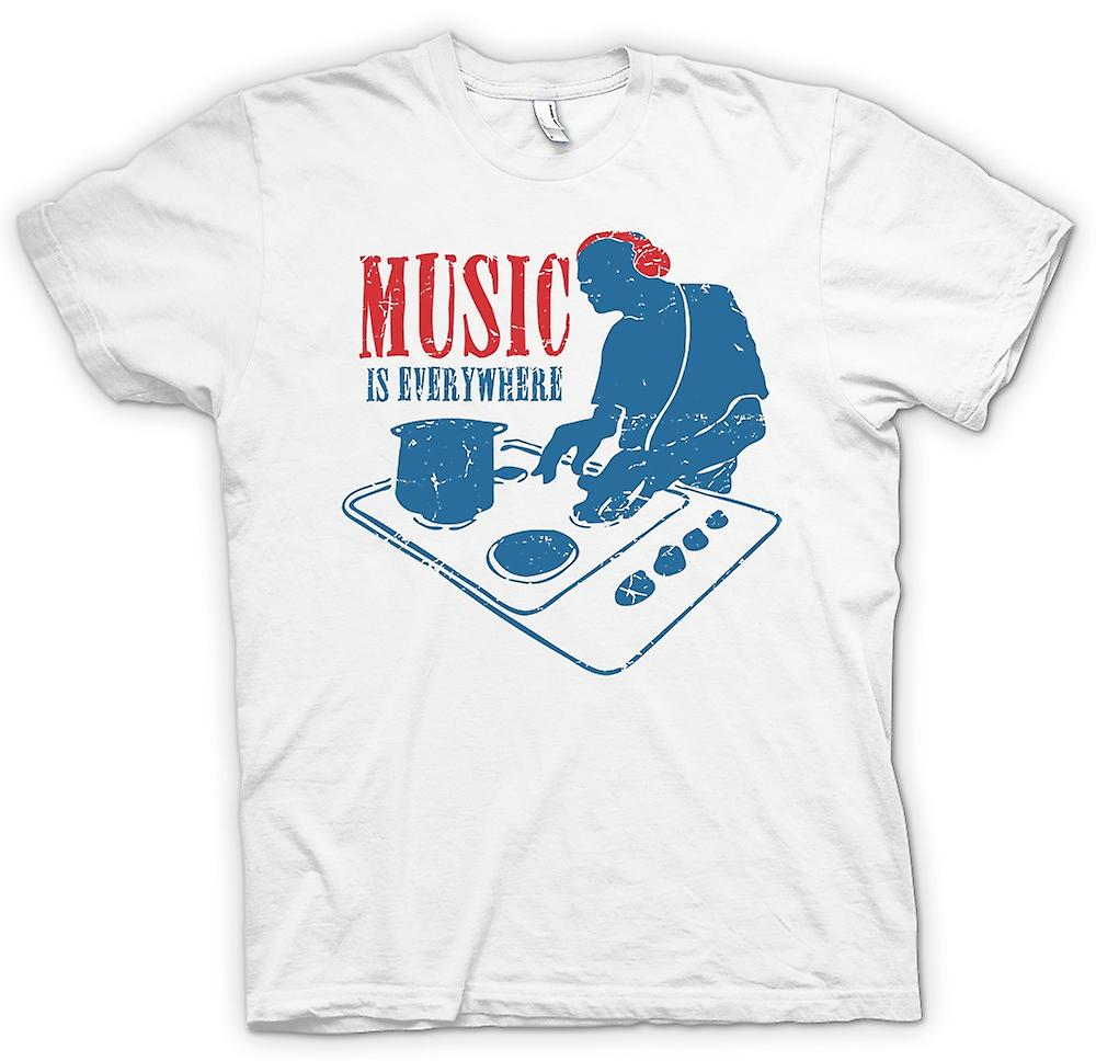 Mens T-shirt - Music Is Everywhere - DJ The Oven