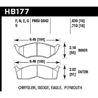 Hawk Performance HB177N.630 HP Plus
