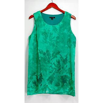H door Halston top mouwloos tuniek met bloemen print groen A287114