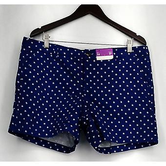 Merona rits & knop sluiting shorts w/zakken blauw Womens