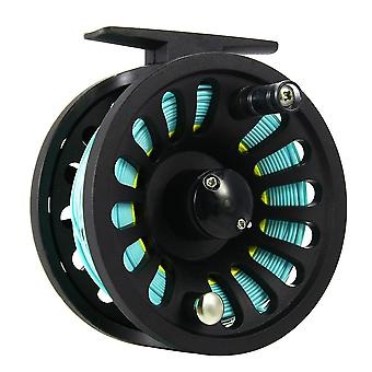 1+1b bearing fly fishing reel fishing line + extension line+taper leader+tippet set blue&yellow