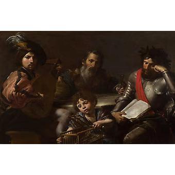 The Four Ages of Man,VALENTIN DE BOULOGNE,60x40cm