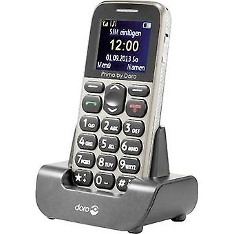 Primo por DORO 215 Big botón teléfono móvil estación de carga, botón de pánico Beige