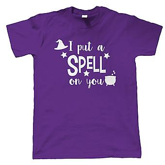 I Put A Spell On You Mens T-Shirt   Halloween Fancy Dress Costume Trick Or Treat   Hallows Eve Ghost Pumpkin Witch Trick Treat Spooky   Halloween Gift Him Dad