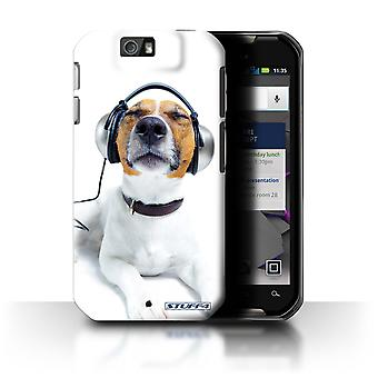STUFF4 Case/Cover for Motorola IronRock/XT626/Chillin Headphone Dog/Funny Animals