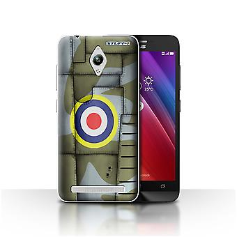 STUFF4 Case/Cover for Asus Zenfone Go ZC500TG/Britain/Green/Airplane Fighter Wing