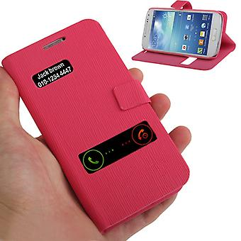Cell phone case Samsung Galaxy S4 venster zak met mini i9190 roze