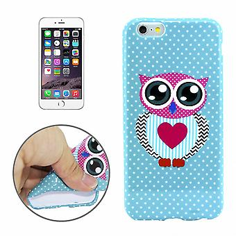 Protective case pouch pouches TPU for phone Apple iPhone 6 plus thick OWL with a heart motif