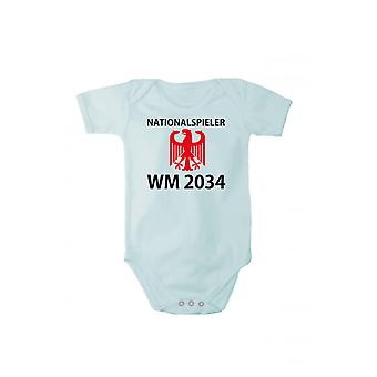 Baby Romper Korte mouw met druk internationals WM 2034 in verschillende talen