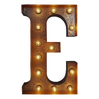 Large Vintage Letter Lights - E