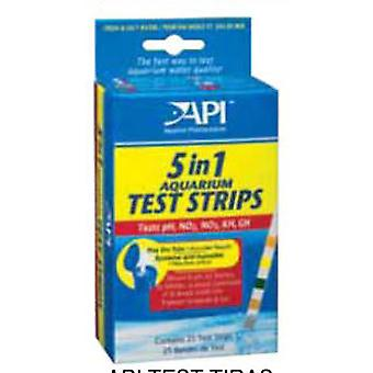 API Test  25 Tiras 5-En-1 (Fish , Maintenance , pH & Other Substance Test Strips)