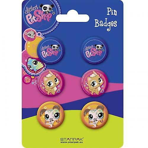 Officially Licensed | LITTLEST PET SHOP | 6 PIN BADGE PACK