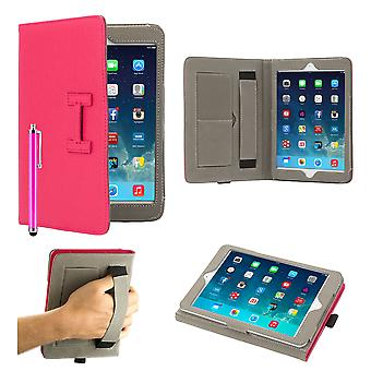 Hermes Clip libro custodia per Apple iPad 2/3/4 + penna stilo - Hot Pink