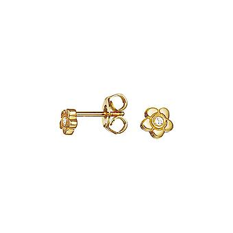 ESPRIT kids earrings JW50258 Silver Gold Flower ESER92736B000