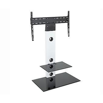 Contemporáneo satén blanco TV soporte voladizo con TV soporte de montaje para 32