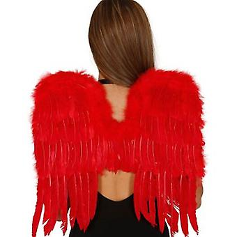 Guirca 50CM Red Wings Feathers (Kostuums)