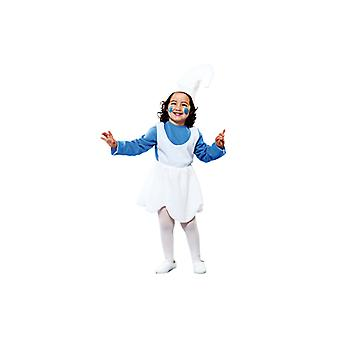 Dwarf costume blue dwarf costume for girls 2-3 years size 104 T2