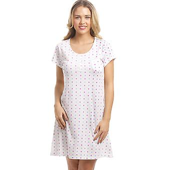 Camille Cotton Mix Multi-Coloured Polka Dot Nightdress
