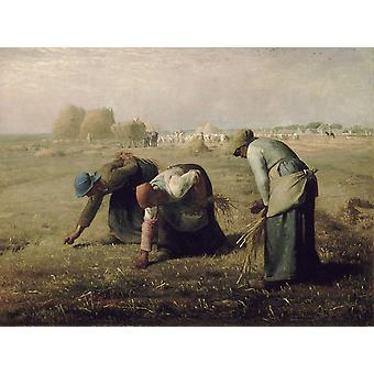 Jean Francois Millet - Gleaners Poster Print Giclee