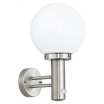 Eglo Outdoor Steel Globe Wall Light