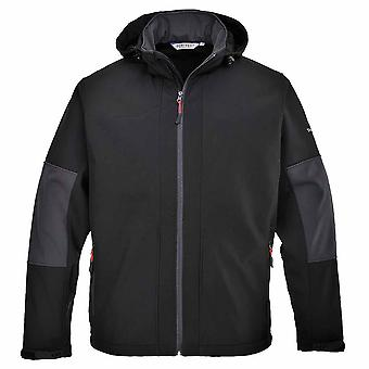Portwest - Mens Breathable Waterproof Softshell With Detachable Hood (3L)