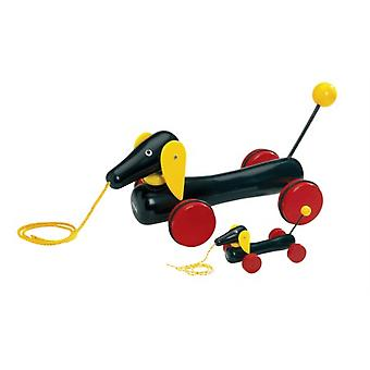 BRIO Large Pull-along Dachshund 30334 Large Toddler Pull Along Toy