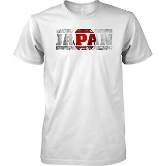 Japan Grunge Country Name Flag Effect - Mens T Shirt