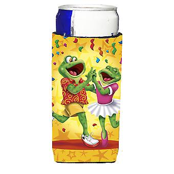 Frog Swing Dancing Michelob Ultra beverage insulators for slim cans