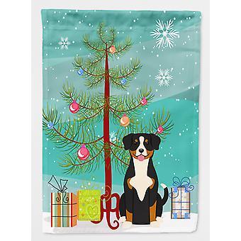 Carolines Treasures  BB4163GF Merry Christmas Tree Entlebucher Flag Garden Size