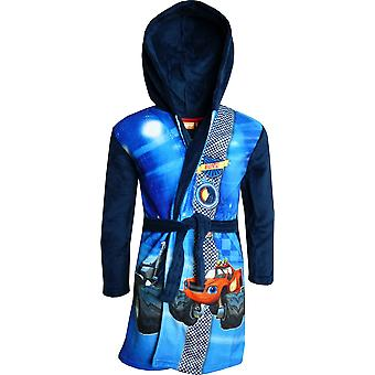Boys DHQ2196 Blaze And The Monster Machines Fleece Hooded Dressing Gown