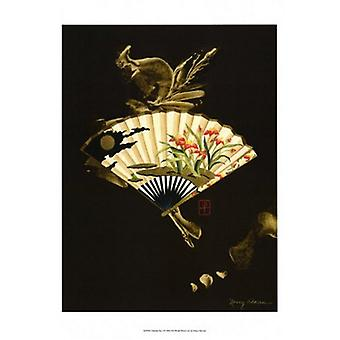 Oriental Fan I Poster Print by Nancy Slocum (12 x 16)
