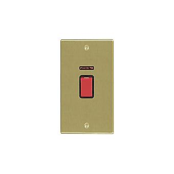 Hamilton Litestat Hartland ottone satinato 45A DP + Neon VERTICALE rosso Rocker/BL
