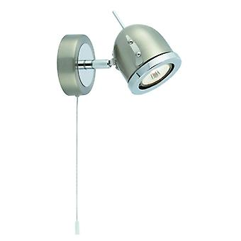Satin Silver & Chrome Adjustable Wall Spotlight- Searchlight 4921ss