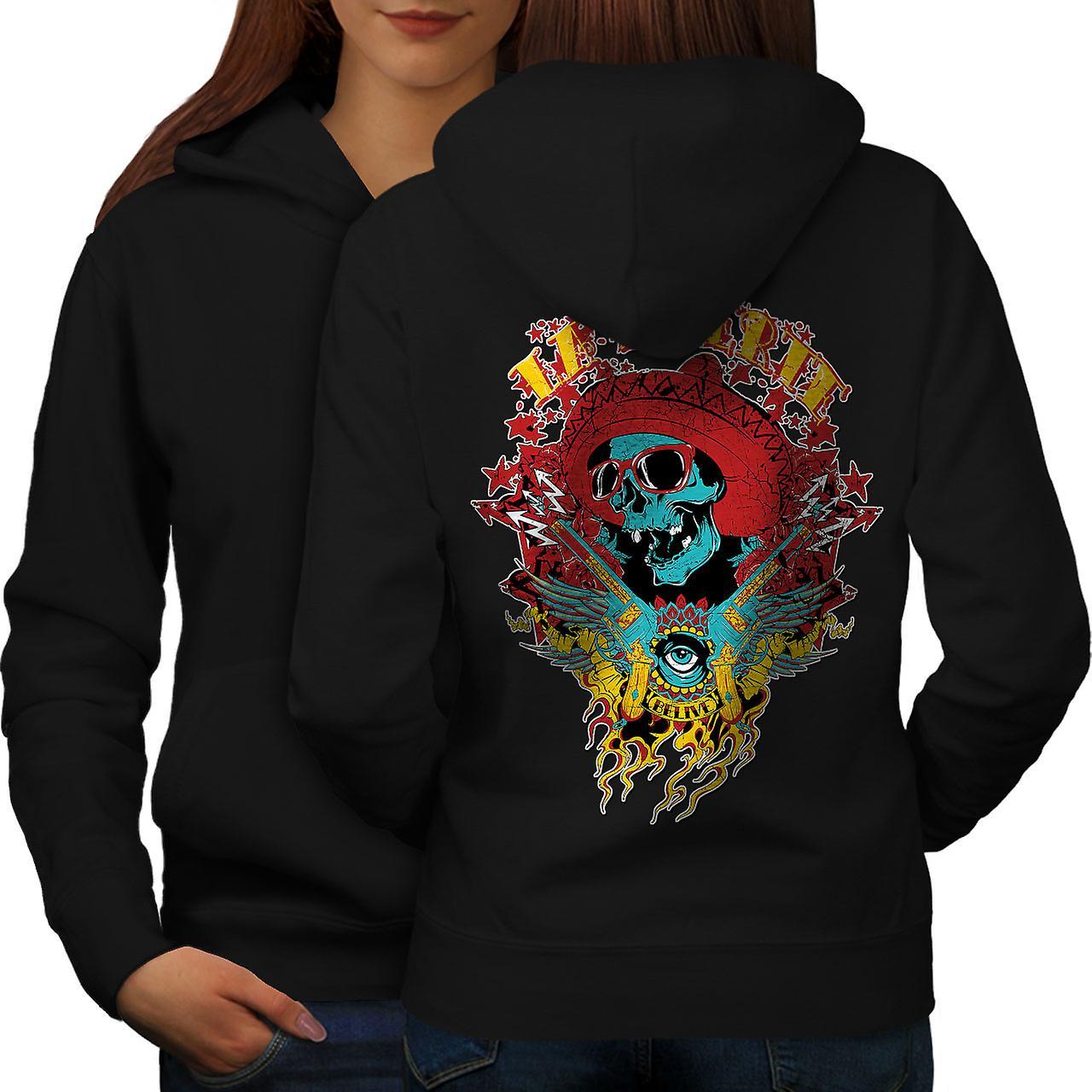 La Muerte partie Skull femmes noirHoodie dos