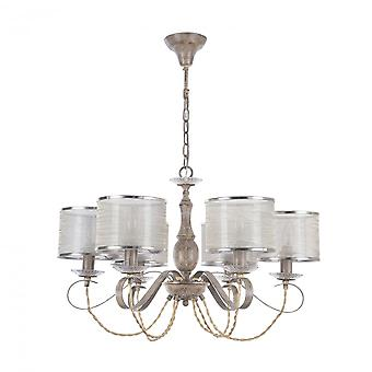 Maytoni Lighting Cable House Collection Chandelier, Beige (wood)