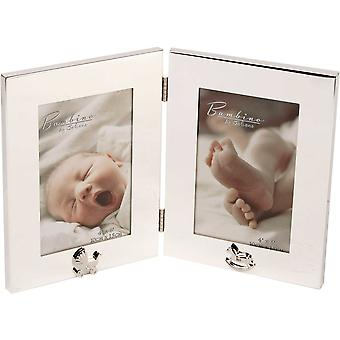 Bambino Silver Plated Double Photo Frame