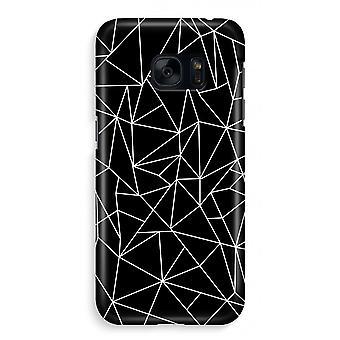 Samsung S7 Full Print mål - geometriska linjer vit