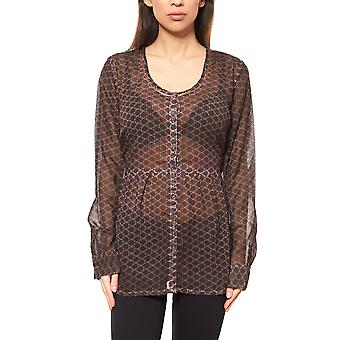 B.C.. best connections by heine shirt ladies chiffon print blouse Brown