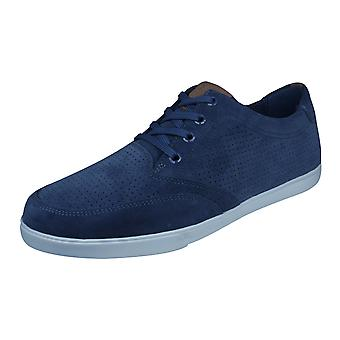 Mens Geox Trainers U Walee B Casual Suede Shoes - Blue