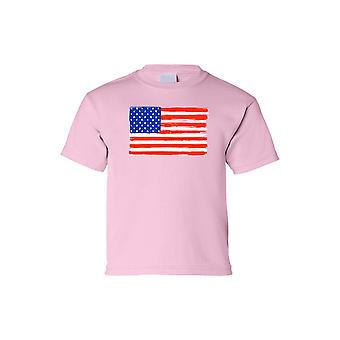 Kids USA Flag Tee proud To Be An American Short Sleeve T-Shirt