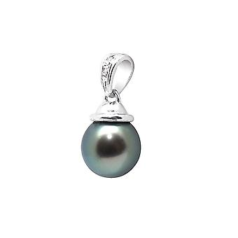 Tahitian Pearl, diamond pendant and white 750/1000 gold