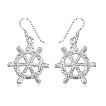 Pendantes rudder in Silver 925 earrings