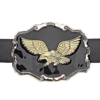 Iced Out Bling BLACK Gold Eagle Adler Gürtel