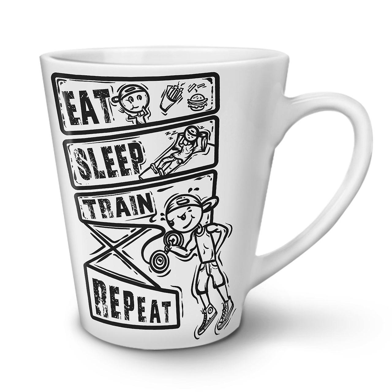 Tasse 12 En Nouvelle Latte Blanche Train Sleep OzWellcoda Café Eat Céramique dxBoeC